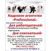 Свободные вакансии от кадрового агентства профессионал на 10 08 2019 г