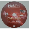 // Диски DVD+R DL MaxTec 8. 5 Gb 240 min 8x //